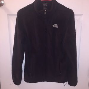Black North Face fuzzy jacket